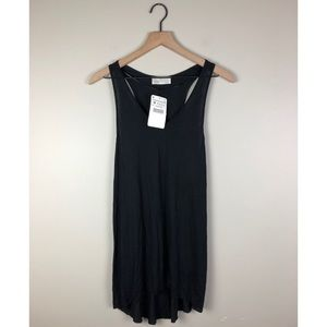 NWT Zara Basic Black Tank Top Size Medium